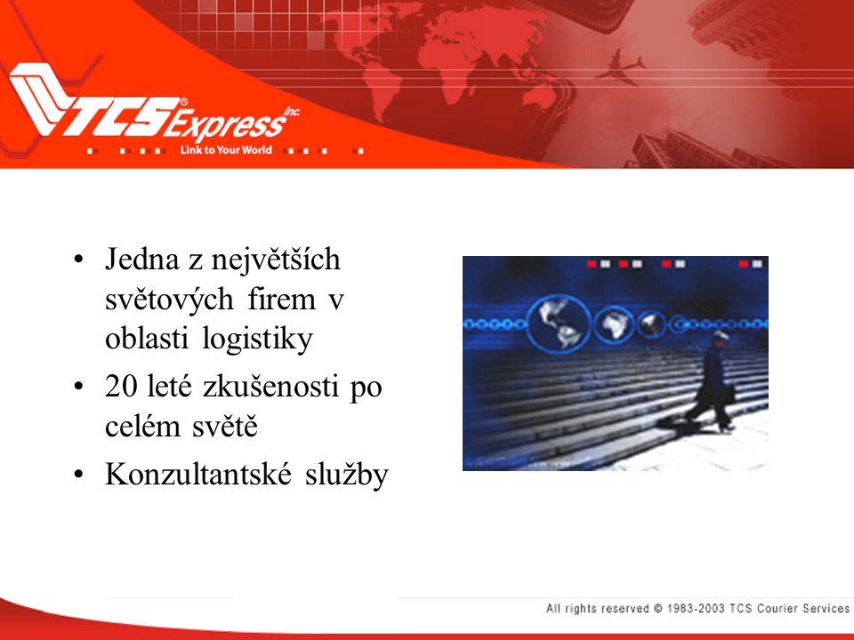 Jedna z největších světových firem v oblasti logistiky 20 leté zkušenosti po celém světě Konzultantské služby