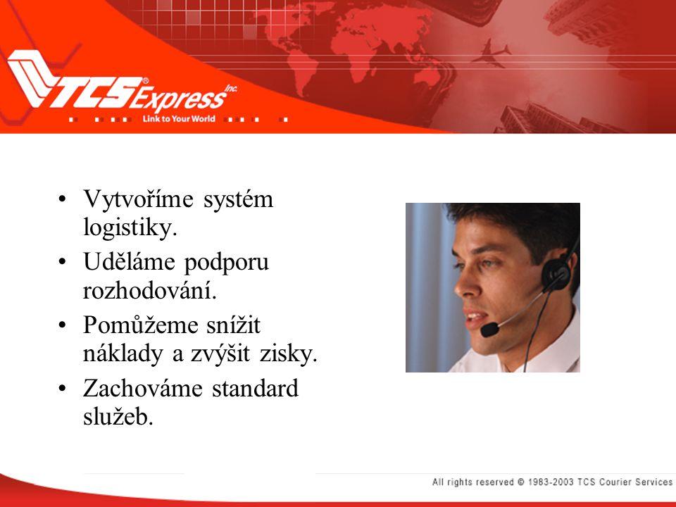 Vytvoříme systém logistiky.Uděláme podporu rozhodování.