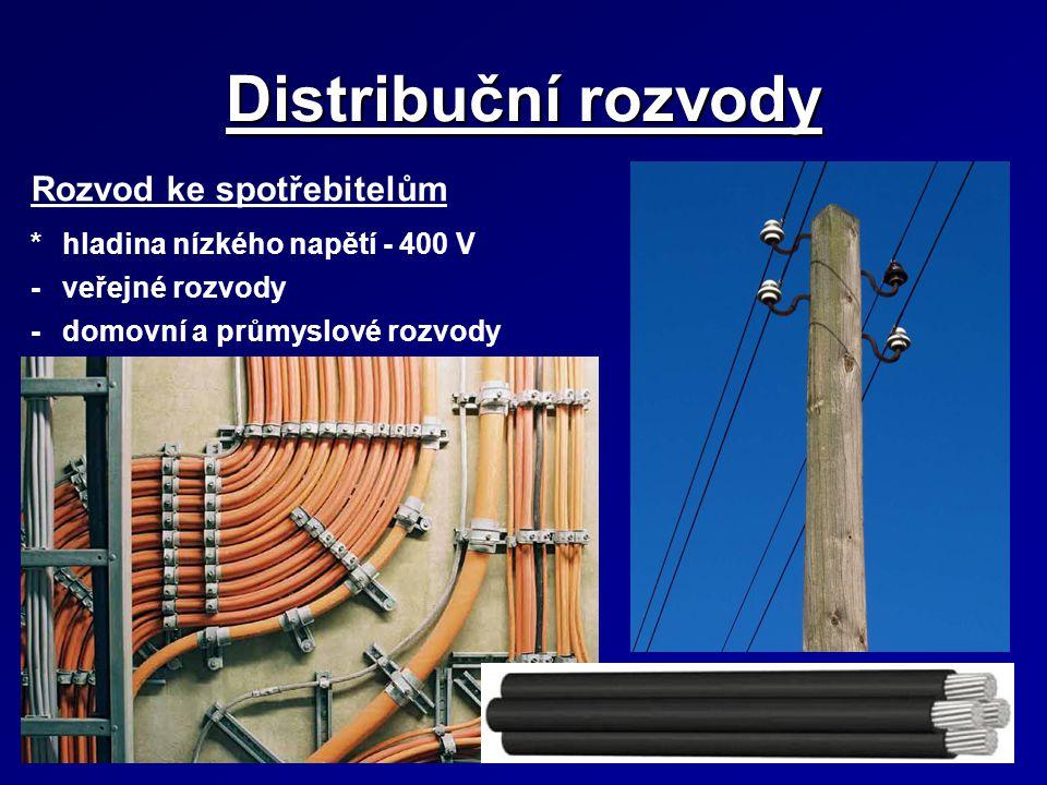 Elektrické stanice Rozdělení podle několika kritérií *velikosti napětí - např.