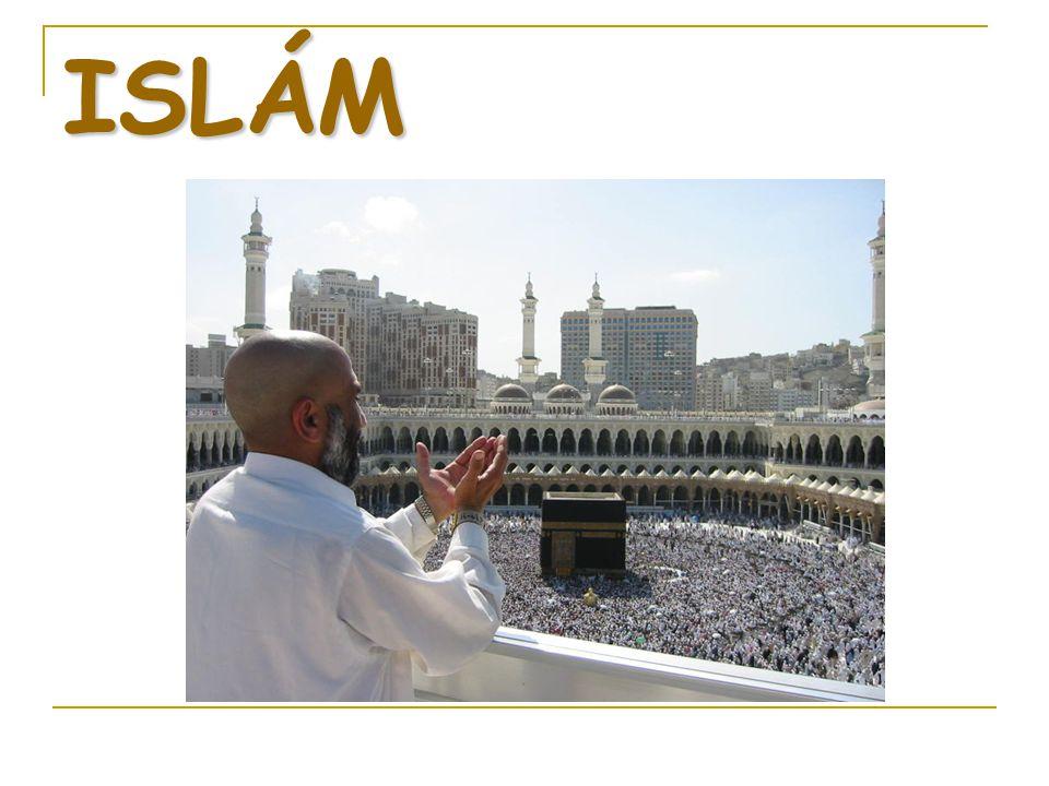 Výrazy kolem islámu Slovo arabského původu islám znamená spočinutí, odevzdání; míní se odevzdání Bohu.