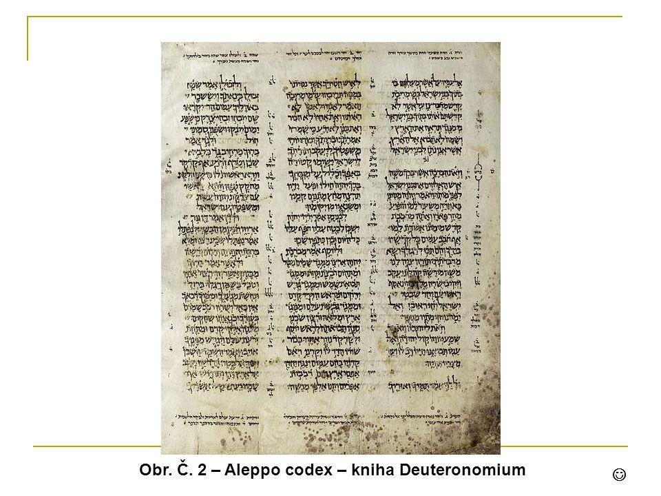 Obr. Č. 2 – Aleppo codex – kniha Deuteronomium