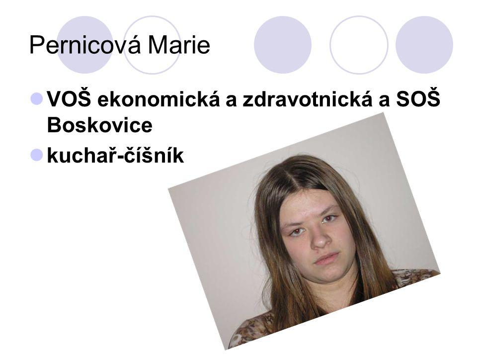 Pernicová Marie VOŠ ekonomická a zdravotnická a SOŠ Boskovice kuchař-číšník