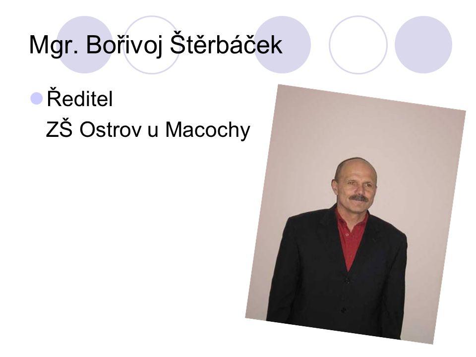 Mgr. Bořivoj Štěrbáček Ředitel ZŠ Ostrov u Macochy