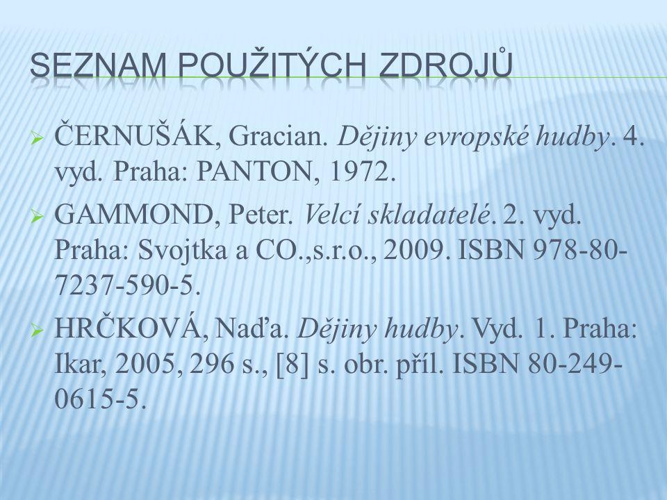  ČERNUŠÁK, Gracian.Dějiny evropské hudby. 4. vyd.