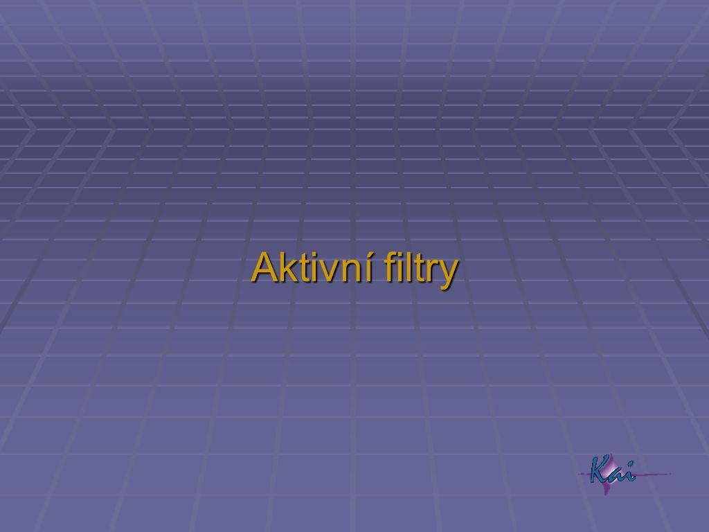 Aktivní filtry