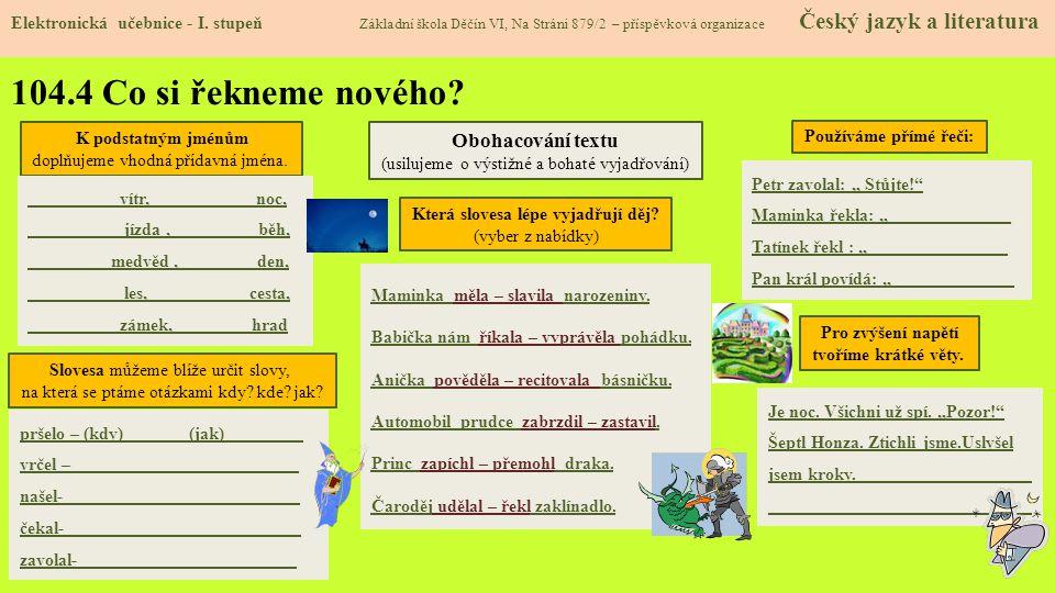104.5 Procvičení a příklady Elektronická učebnice - I.