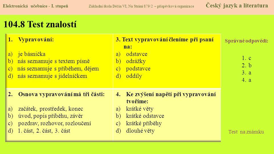 104.9 Použité zdroje, citace Elektronická učebnice - I.