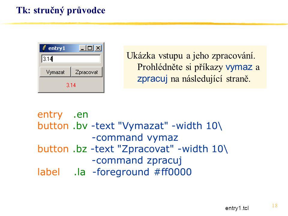 18 Tk: stručný průvodce entry.en button.bv -text