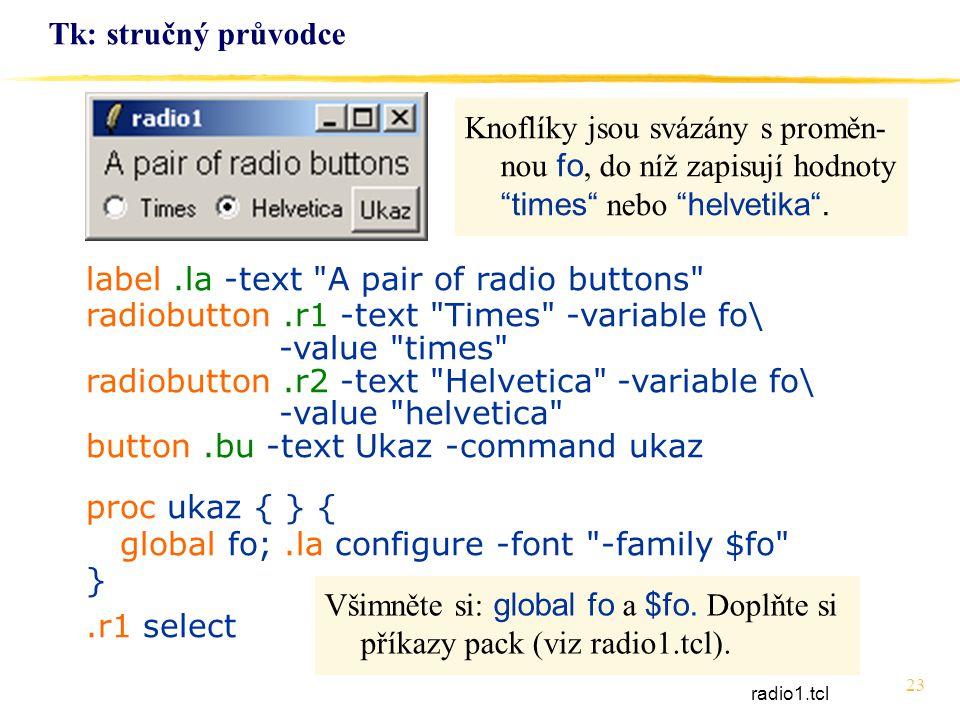 23 Tk: stručný průvodce label.la -text