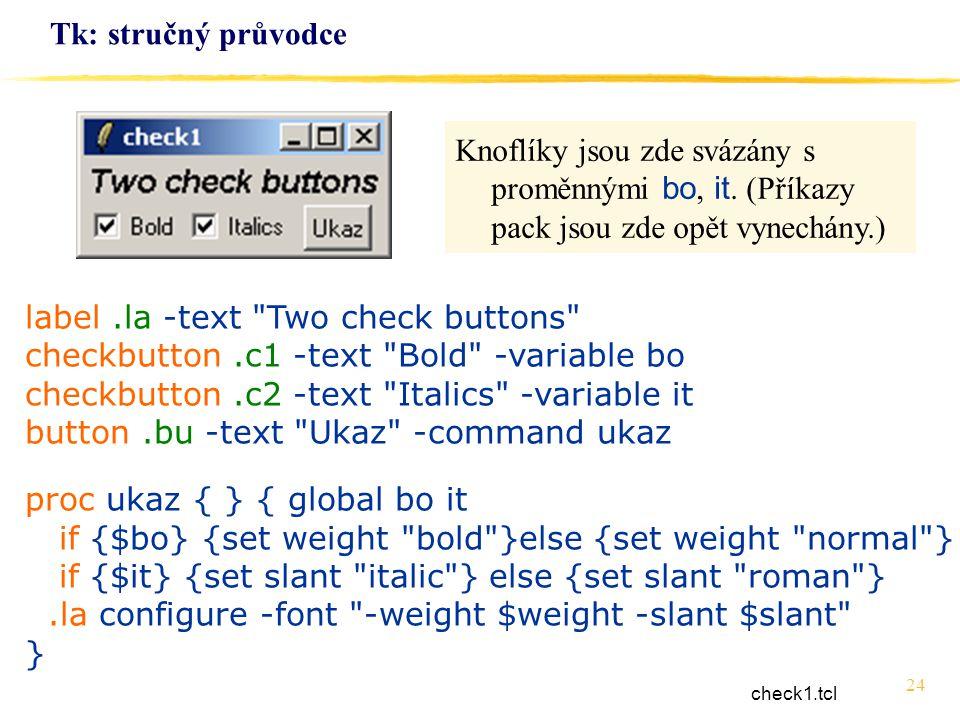 24 Tk: stručný průvodce label.la -text
