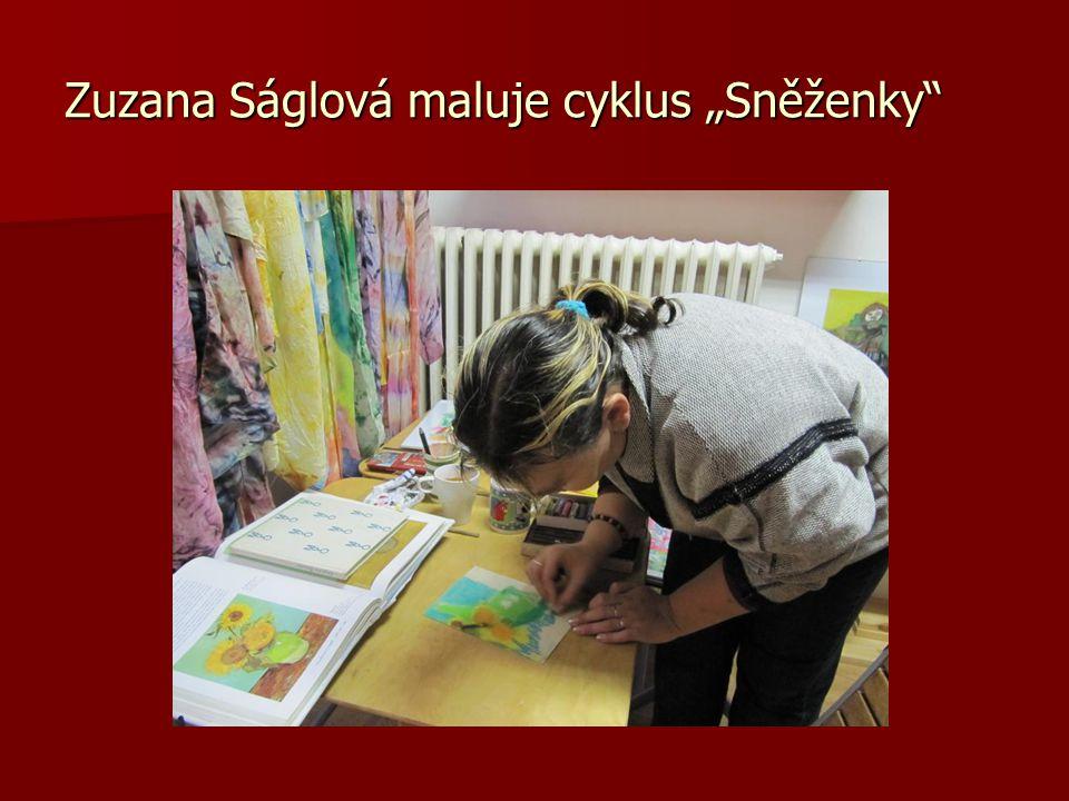 Slečna Zuzana oceňuje obrazy