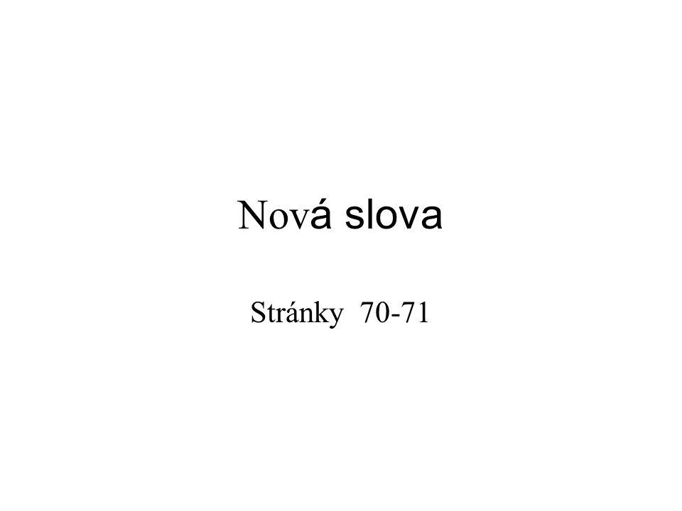 Nov á slova Stránky 70-71