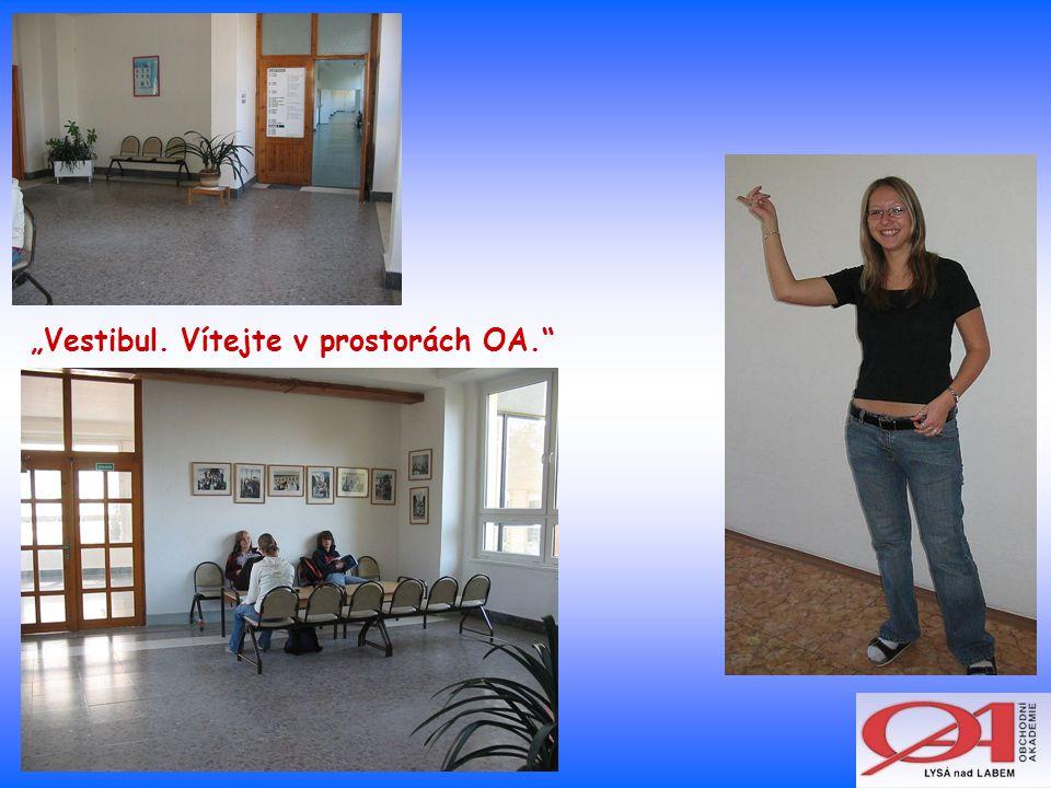 """""""Vestibul. Vítejte v prostorách OA."""