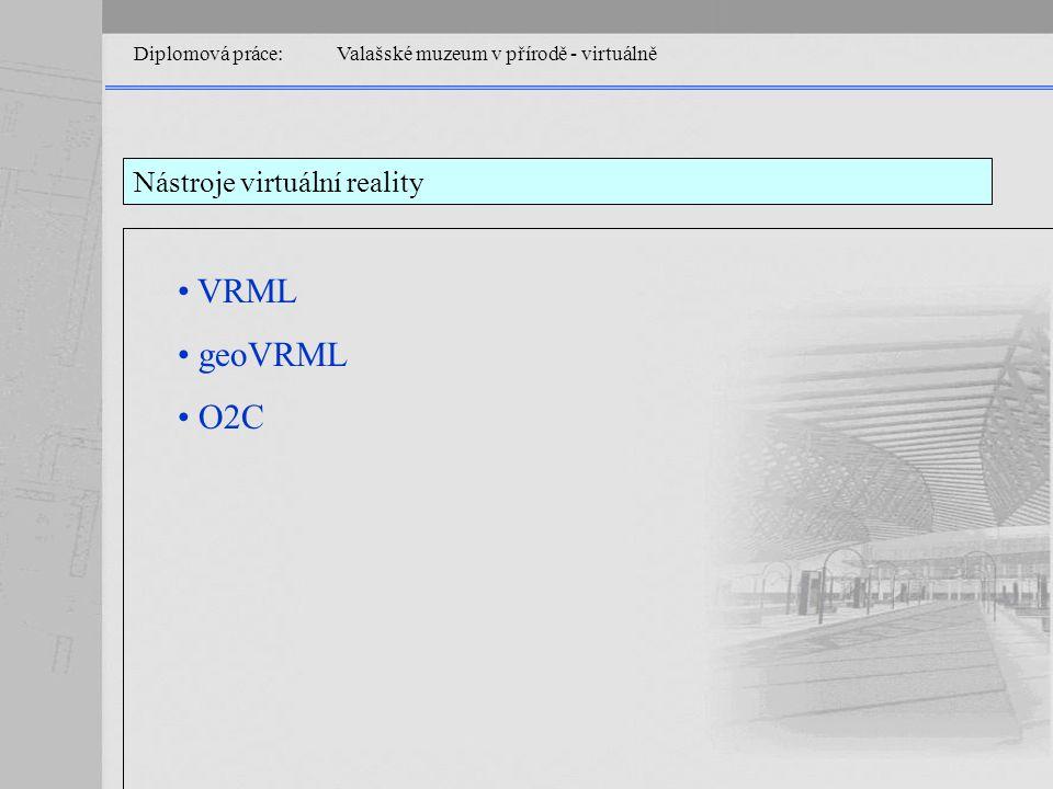 Diplomová práce: Valašské muzeum v přírodě - virtuálně Nástroje virtuální reality VRML geoVRML O2C