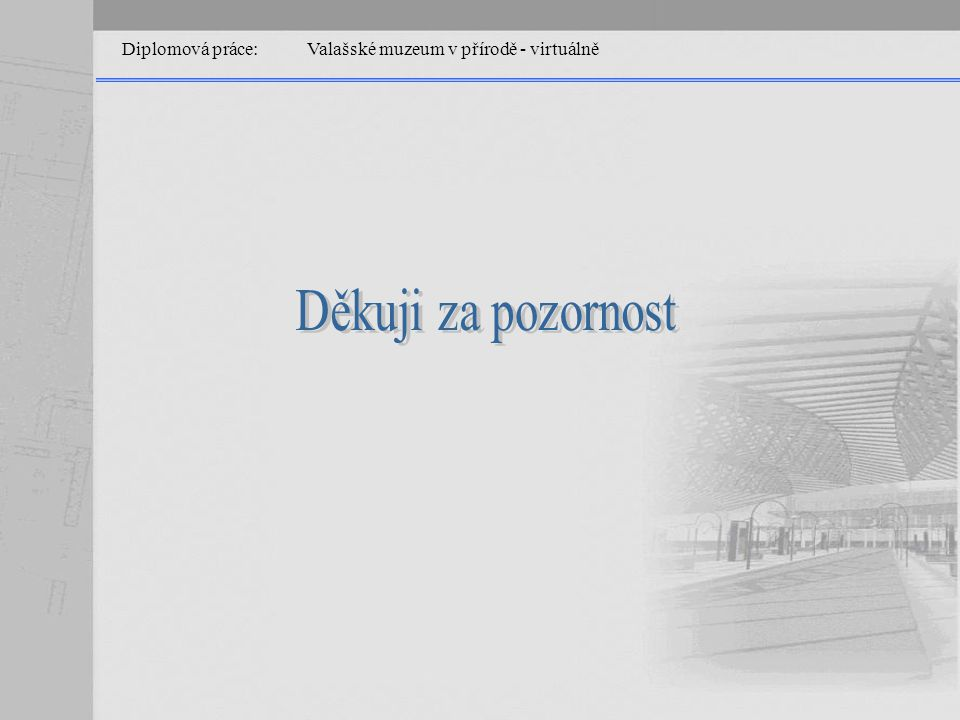 Diplomová práce: Valašské muzeum v přírodě - virtuálně