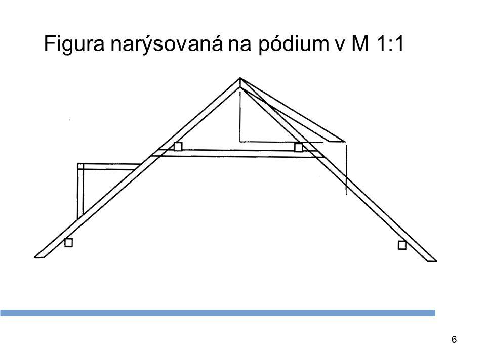 7 Opsání a opracování krokve 1. Opsání krokve pomocí úhelnice 2. Opracování opsané krokve