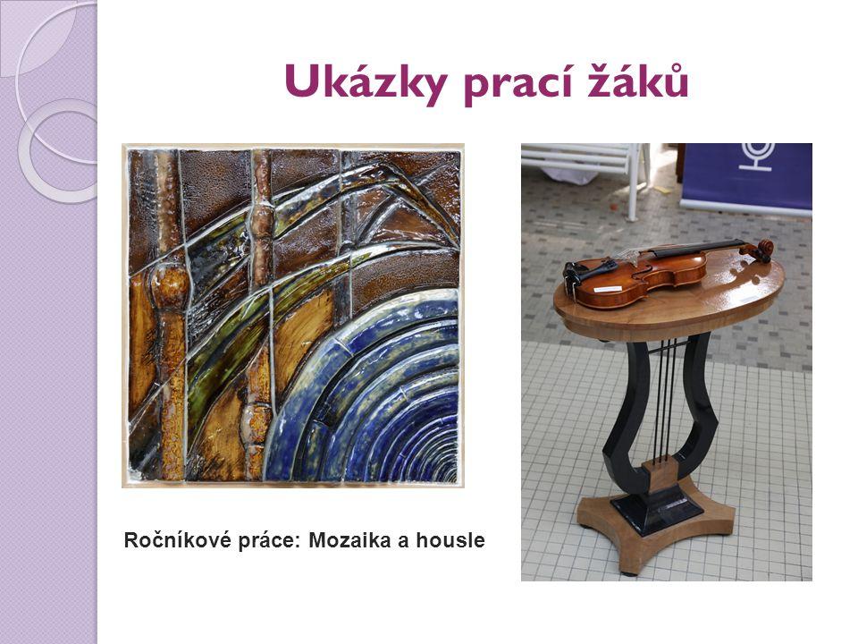 Ukázky prací žáků Ročníkové práce: Mozaika a housle