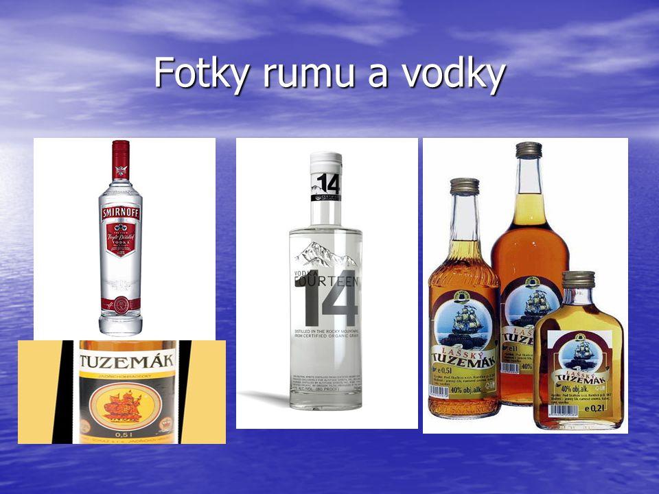 Fotky rumu a vodky