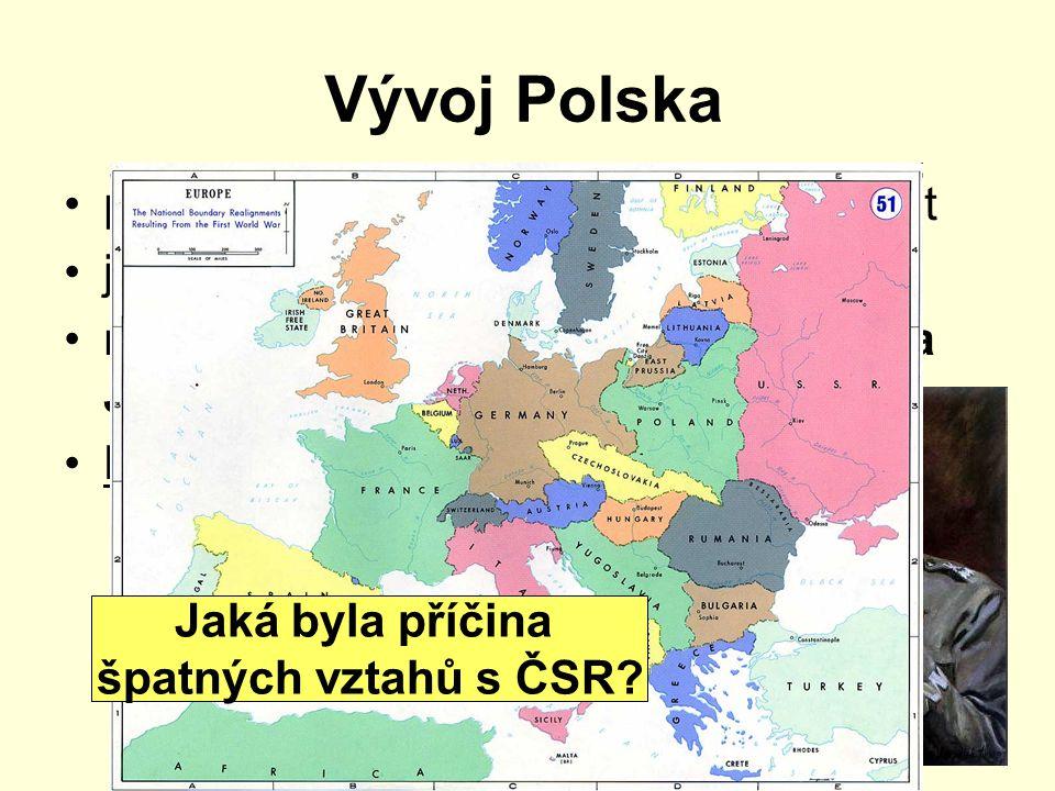 Vývoj Polska po válce obnoveno jako samostatný stát jednotící prvek katolická církev r.