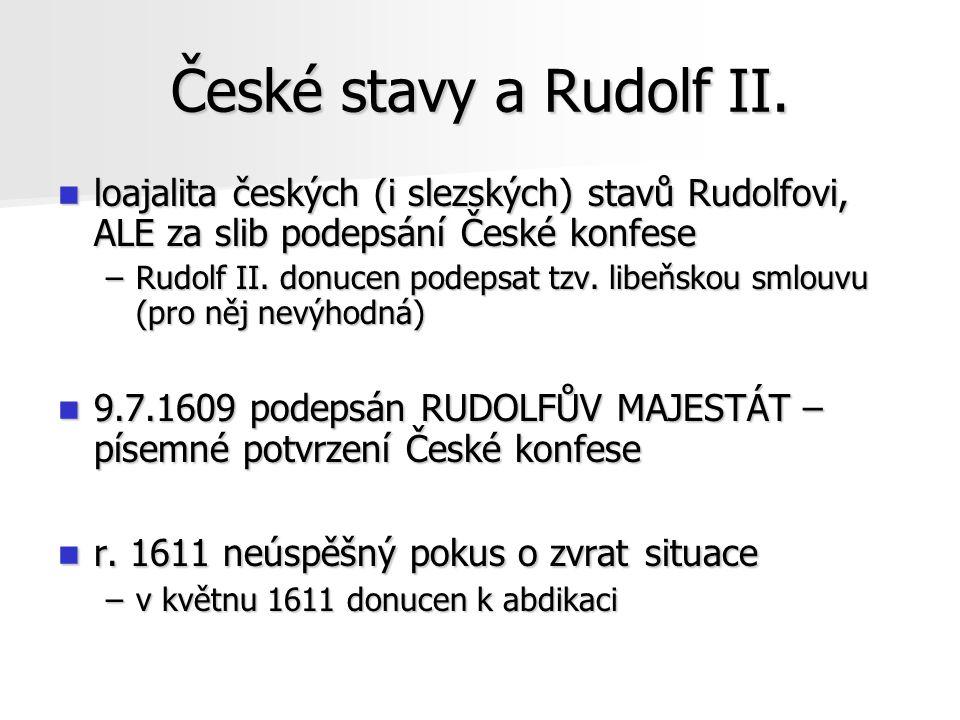 Vláda Matyáše po abdikaci Rudolfa II.v r.