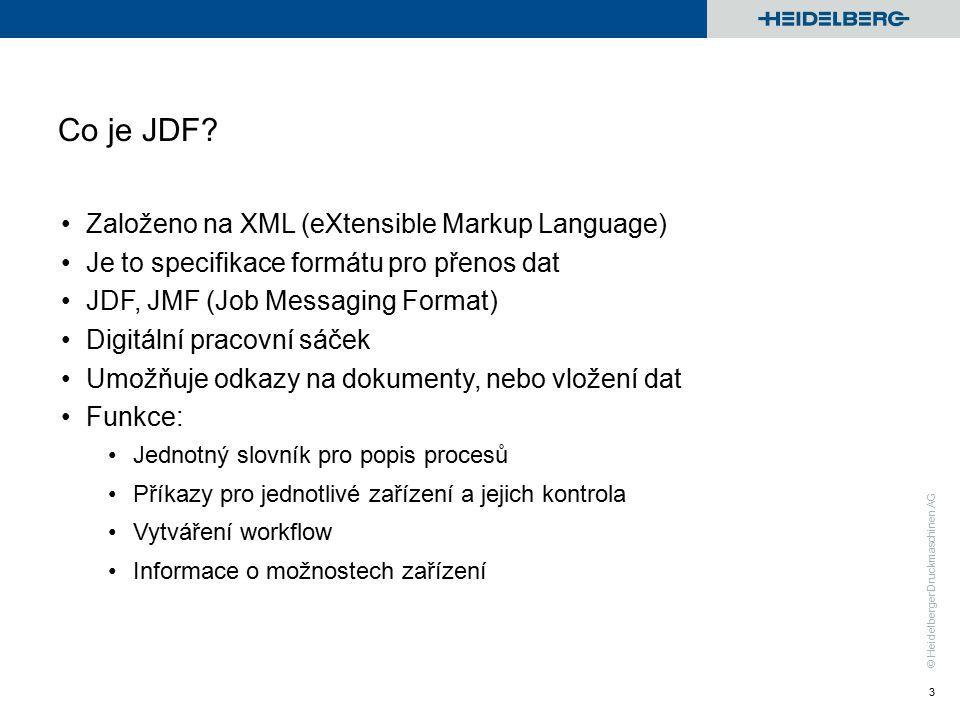 © Heidelberger Druckmaschinen AG Co je JDF.
