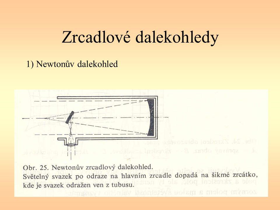 Zrcadlové dalekohledy 1) Newtonův dalekohled