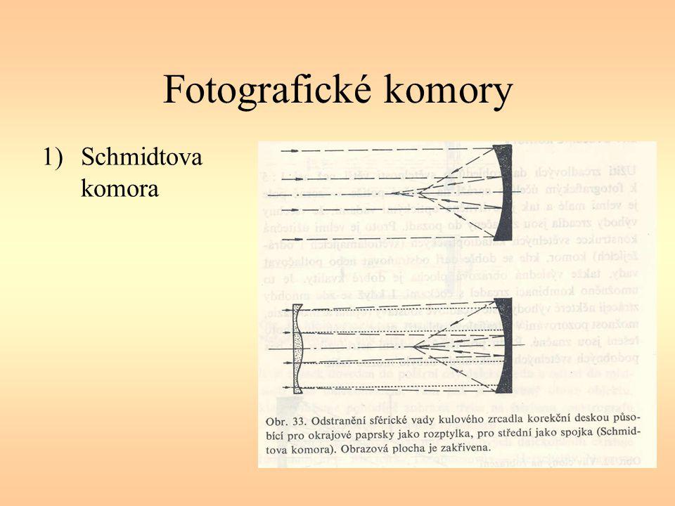 Fotografické komory 1)Schmidtova komora