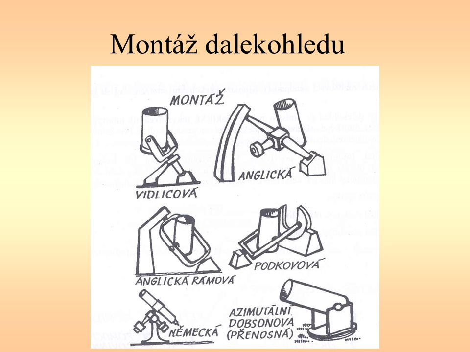 Montáž dalekohledu