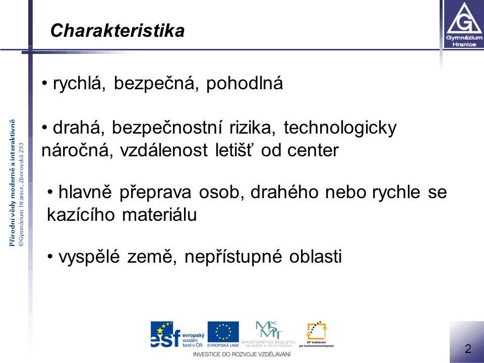 Přírodní vědy moderně a interaktivně ©Gymnázium Hranice, Zborovská 293 3