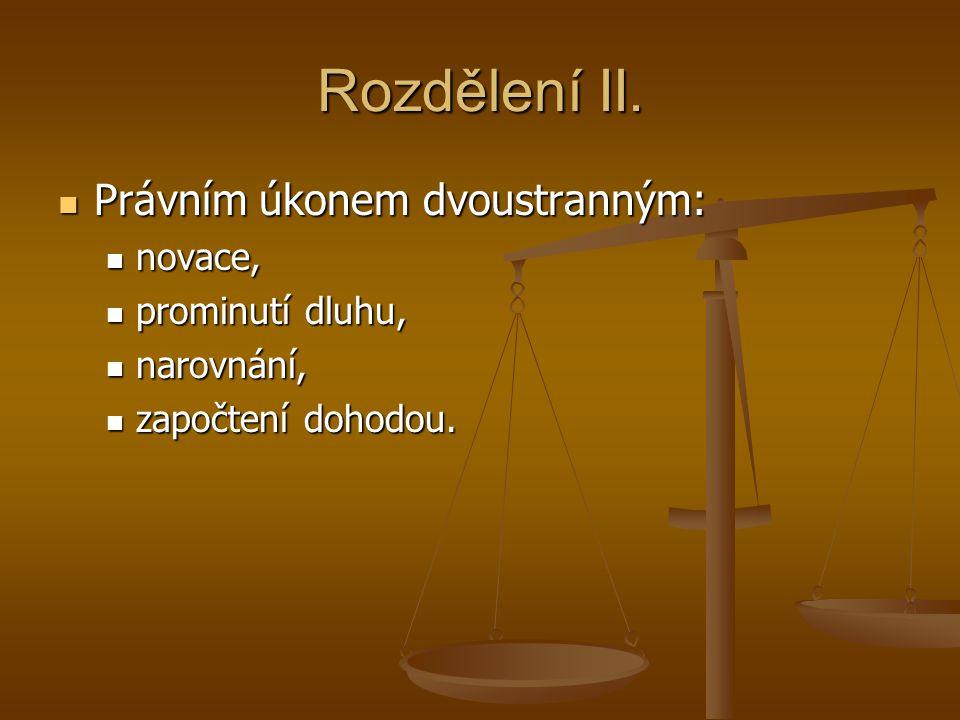 Uložení do úřední úschovy Odlišné od smluvních úschov (§ 2402 a násl.