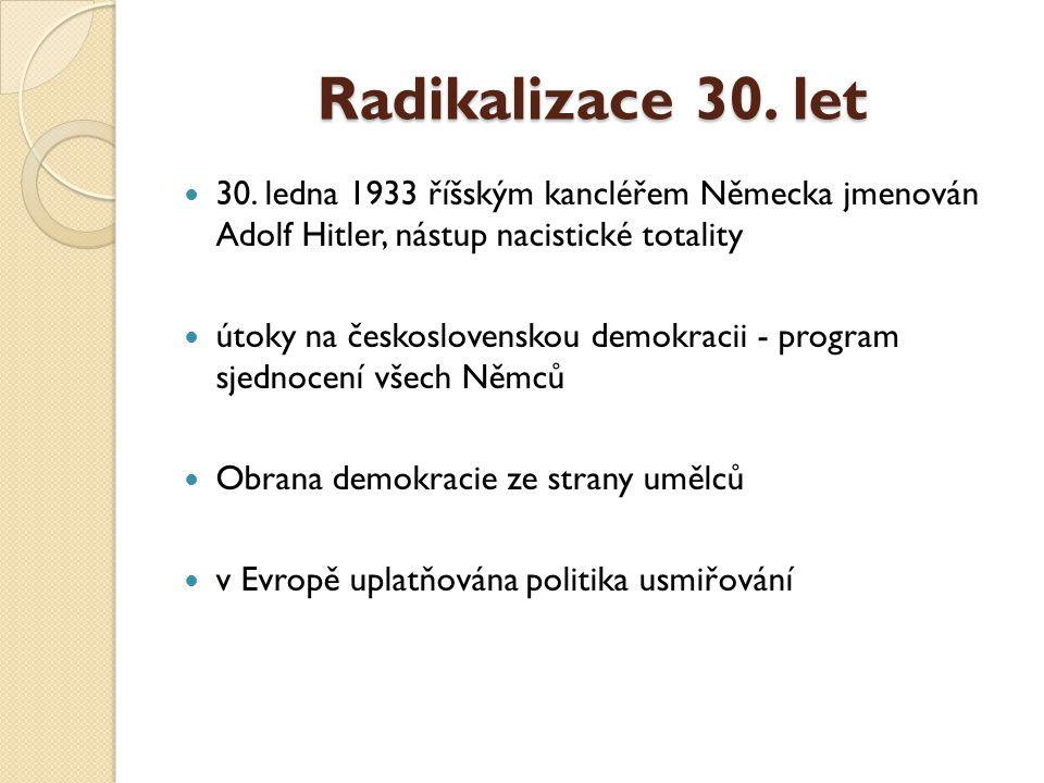 Radikalizace 30.let 30.