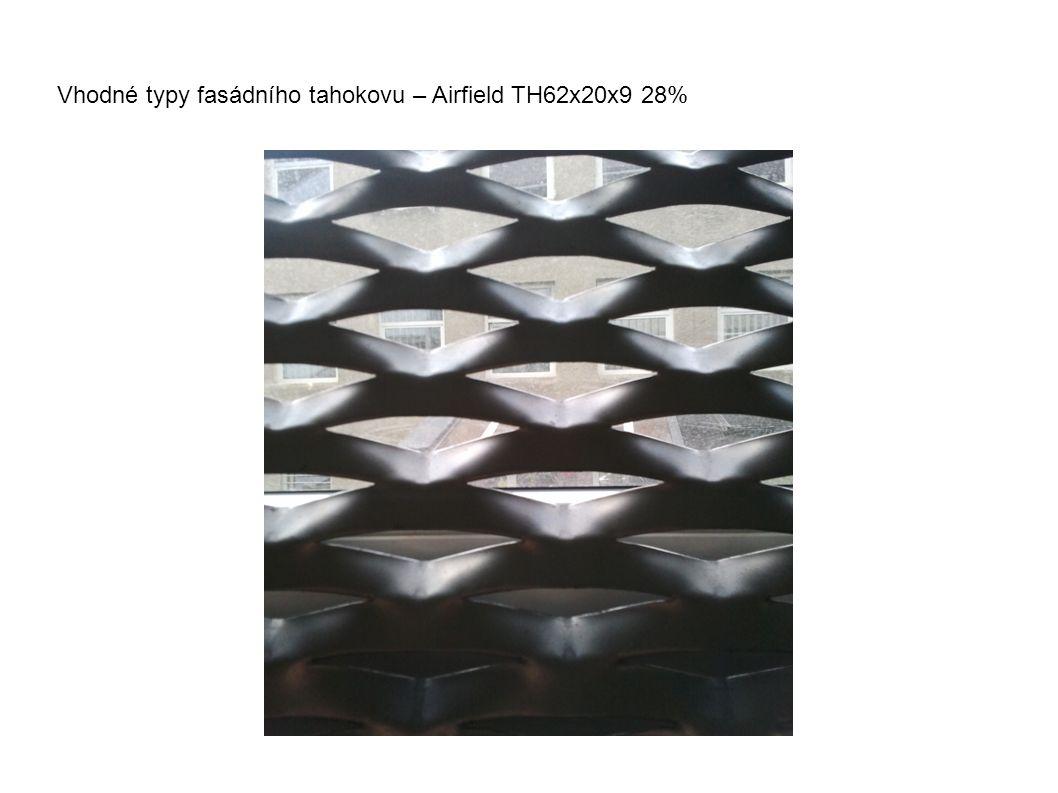 Vhodné typy fasádního tahokovu – Airfield TH62x20x9 28%