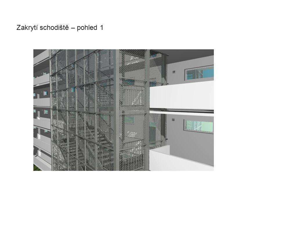Zakrytí schodiště – pohled 1