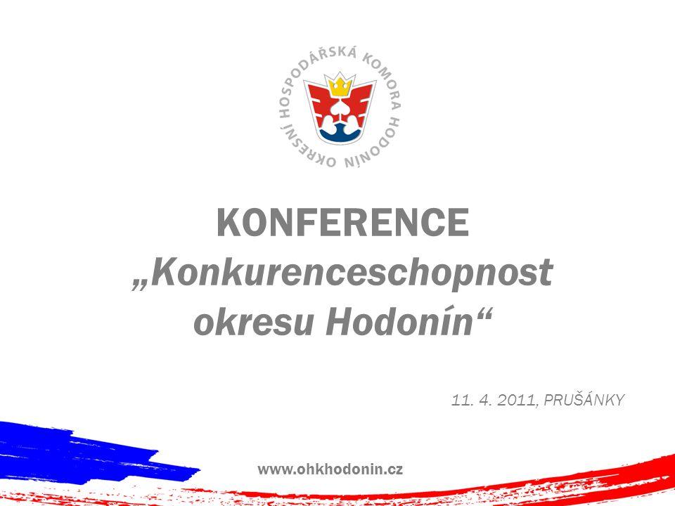 """KONFERENCE """"Konkurenceschopnost okresu Hodonín 11. 4. 2011, PRUŠÁNKY www.ohkhodonin.cz"""