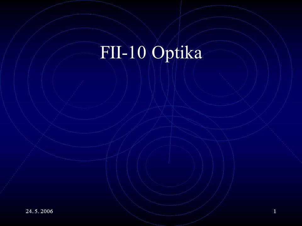 24.5. 20062 Hlavní body Maxwellovy rovnice a EMA vlny.