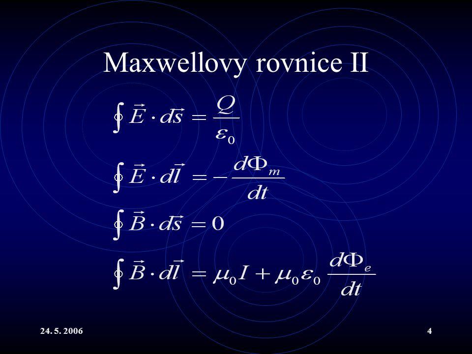 24. 5. 20064 Maxwellovy rovnice II