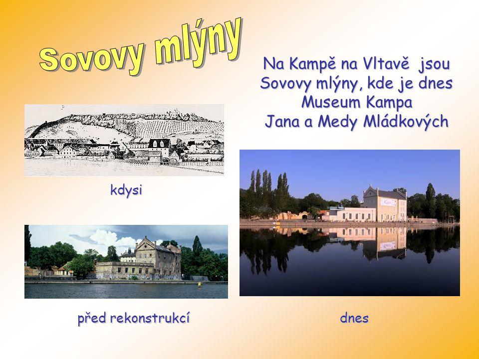 Přibližně v těchto místech stával úplně první pražský mlýn. Ten prošel v historii mnoha změnami. Pražská povodeň v roce 2002 budovu značně poničila, a
