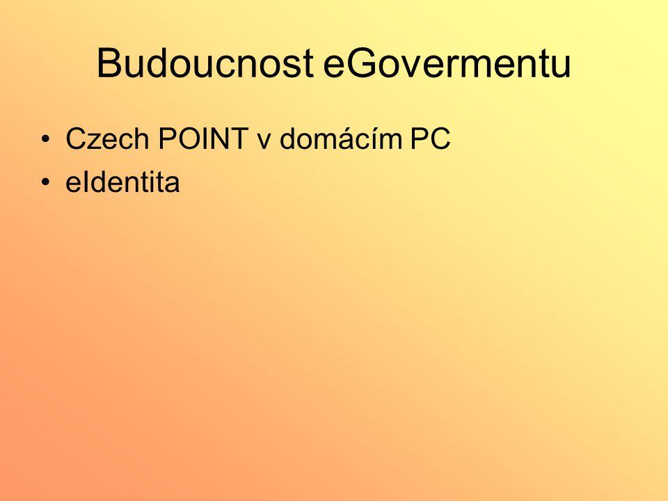 Budoucnost eGovermentu Czech POINT v domácím PC eIdentita