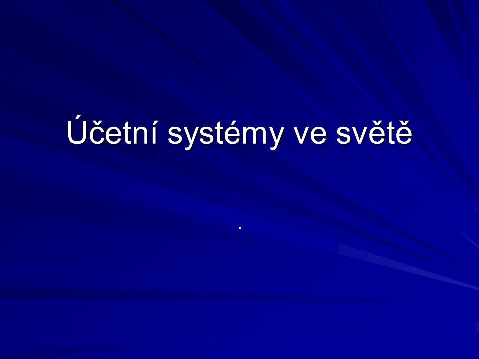 Účetní systémy ve světě.