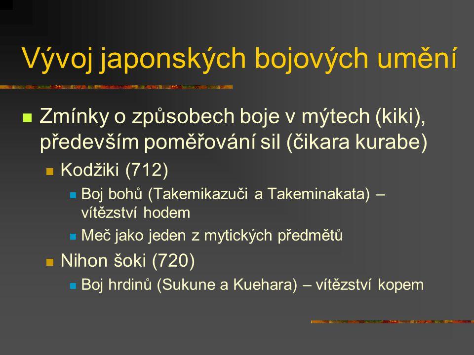 Teorie japonských bojových umění Systematika japonských bojových umění Stará bojová umění (kobudó) Moderní bojová umění (šinbudó) Teoretická východisk