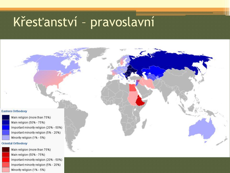StátPočet věřících (v mil.) Rusko106 Ukrajina36 Rumunsko18 Řecko10 Bělorusko7
