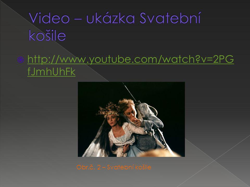  http://www.youtube.com/watch?v=2PG fJmhUhFk http://www.youtube.com/watch?v=2PG fJmhUhFk Obr.č. 2 – Svatební košile