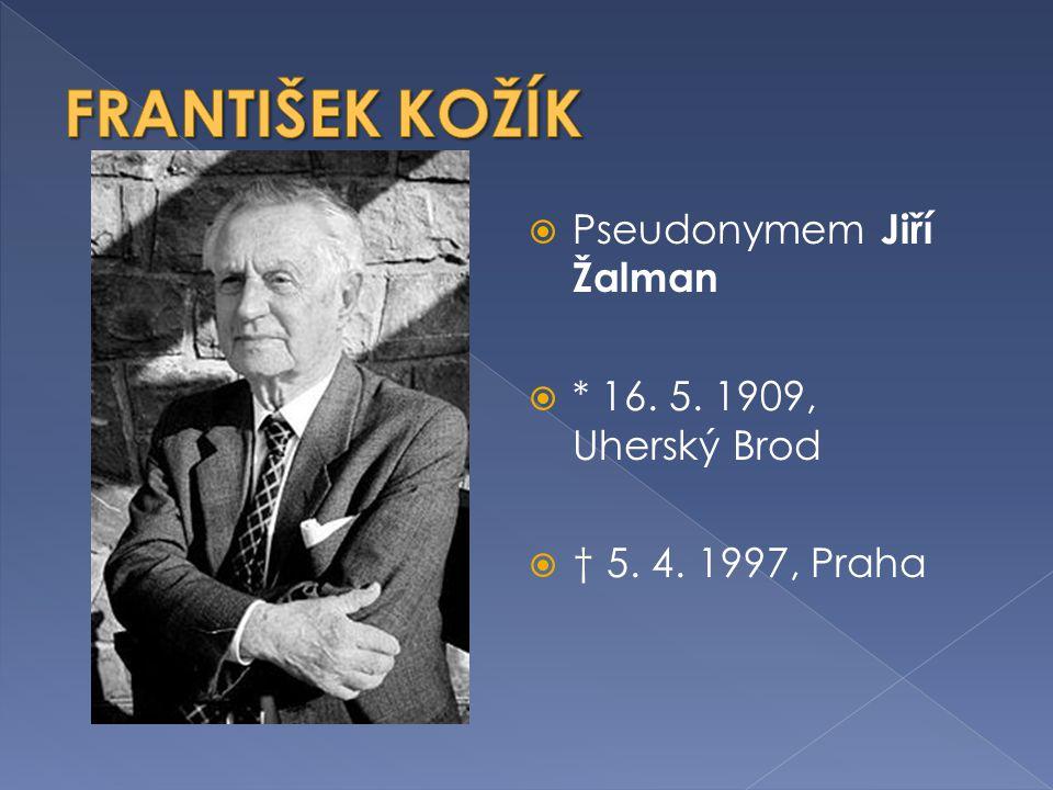  František Kožík se narodil v rodině soudce.
