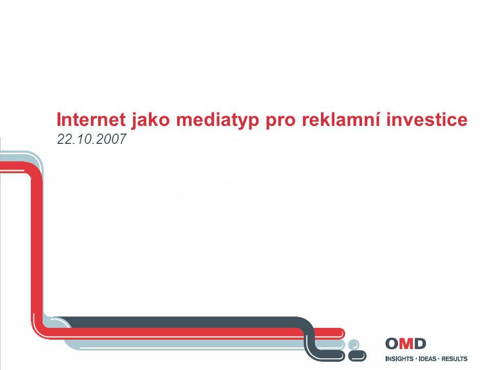 Internet jako mediatyp pro reklamní investice 22.10.2007