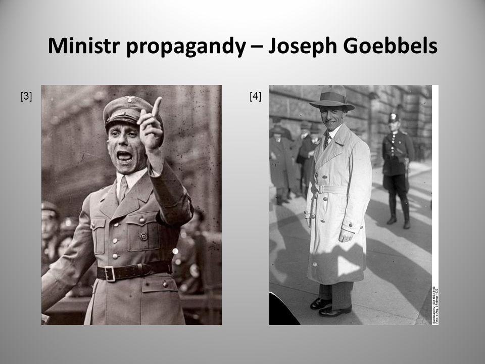 Ministr propagandy – Joseph Goebbels [3] [4]