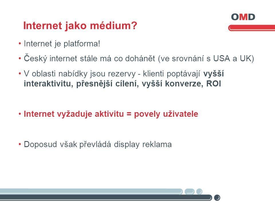 Internet jako médium. Internet je platforma.