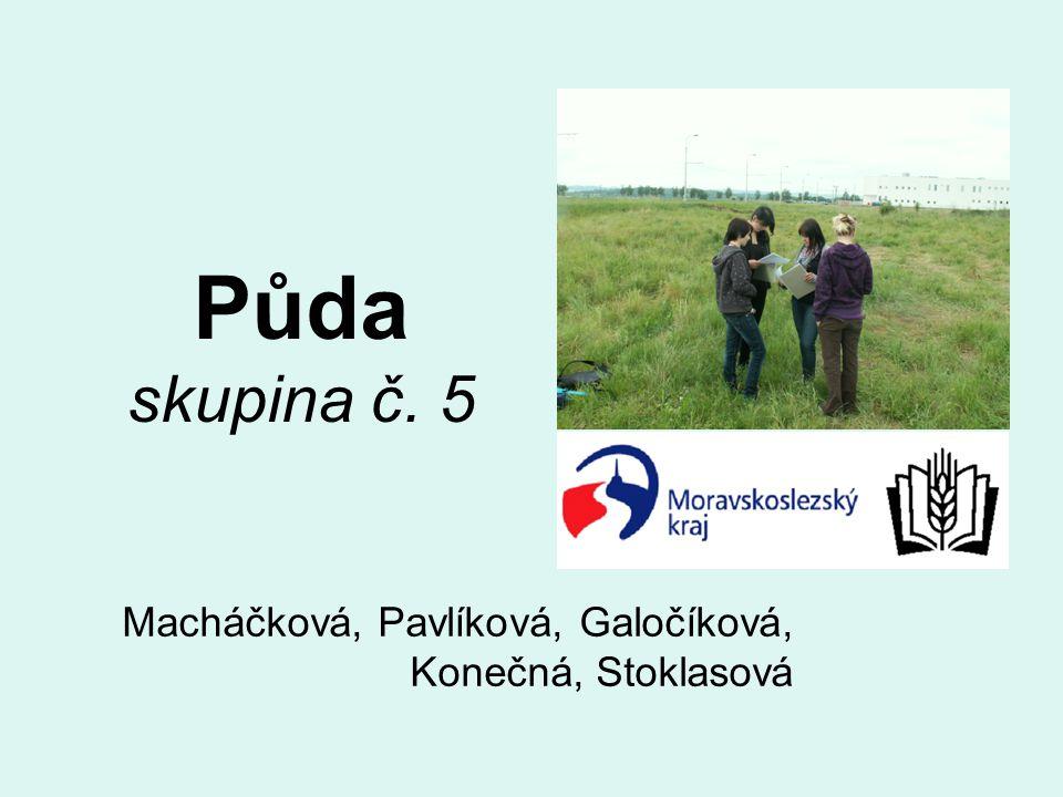 Půda skupina č. 5 Macháčková, Pavlíková, Galočíková, Konečná, Stoklasová
