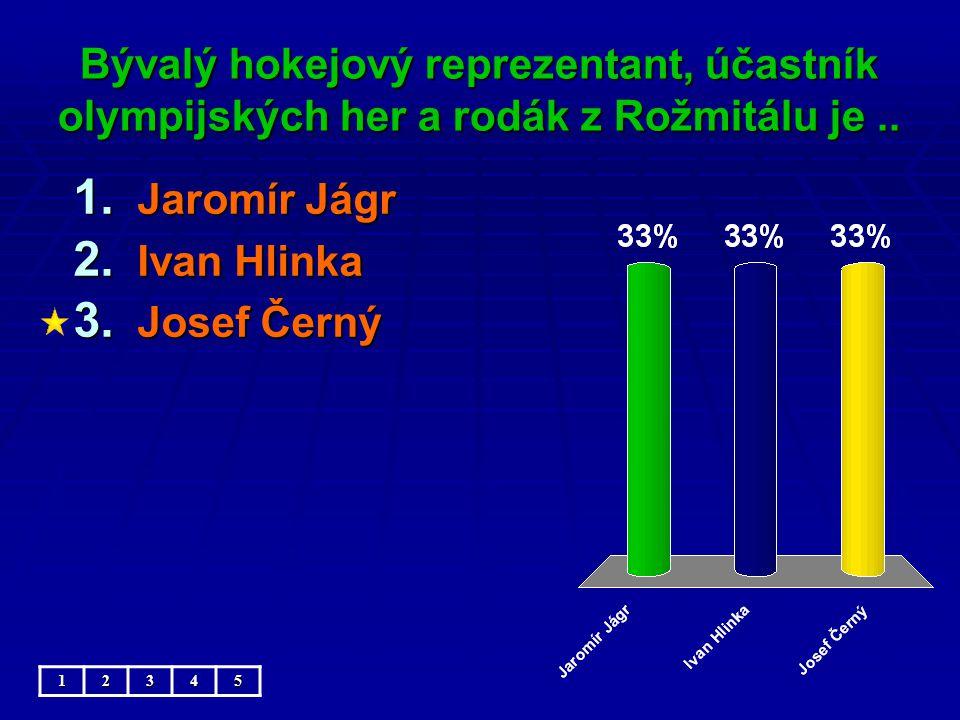 Bývalý hokejový reprezentant, účastník olympijských her a rodák z Rožmitálu je..