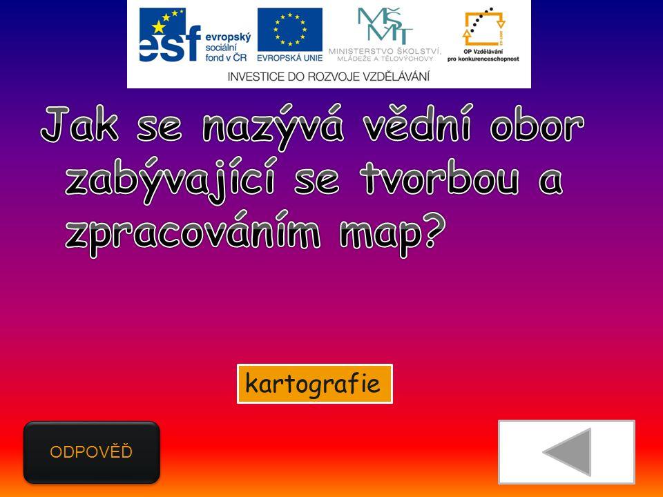 ODPOVĚĎ kartografie