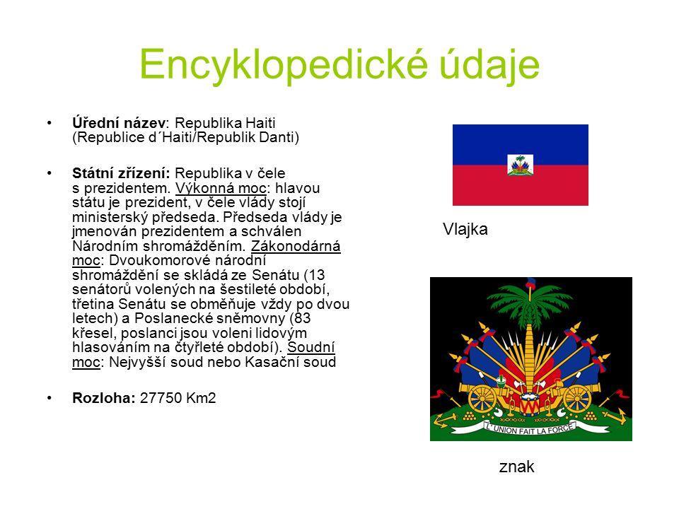 Encyklopedické údaje Úřední název: Republika Haiti (Republice d´Haiti/Republik Danti) Státní zřízení: Republika v čele s prezidentem. Výkonná moc: hla